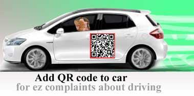 Add QR code to car