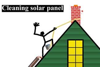 Clean solar panels