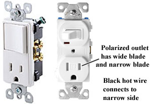 How to wire combination switch outlet Outlet Light Switch Combo Wiring on