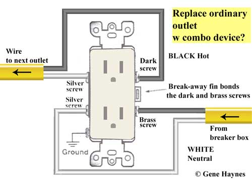 combo switch replaces outlet
