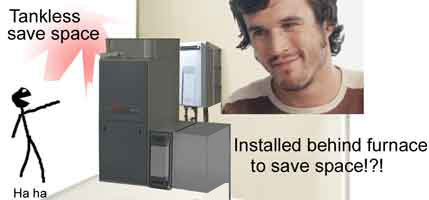 Tankless save space