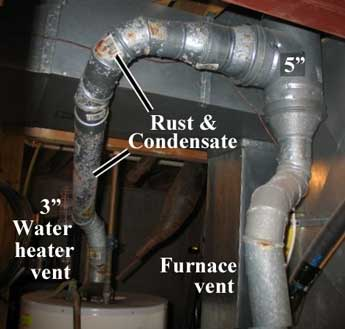 replacing water heater vent pipe