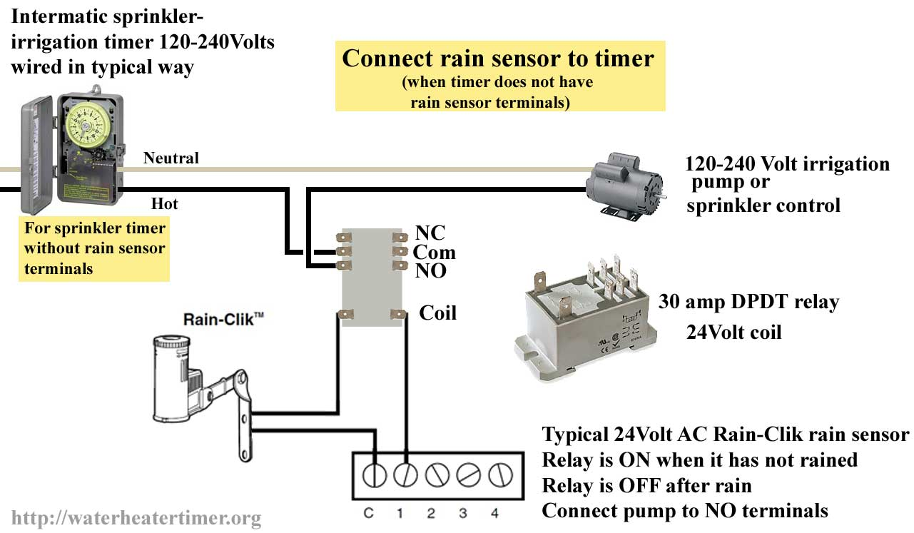 how to wire pin timers rh waterheatertimer org 120V Electrical Switch Wiring Diagrams 120 DC Voltage Regulator Diagram