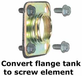 Convert flat flange element to screw-type element