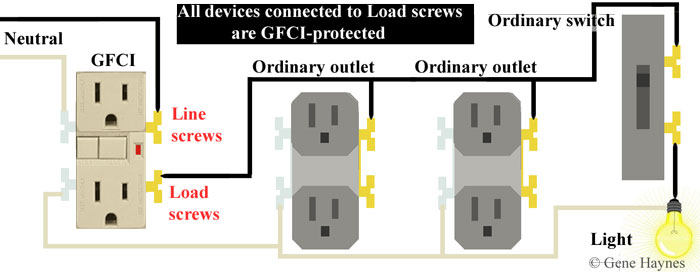 GFCI outlet and switch wiring