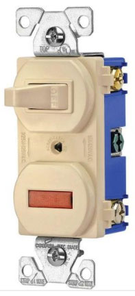 How to wire Cooper 277 pilot light switch Wall Switch With Pilot Light Wiring Diagram on