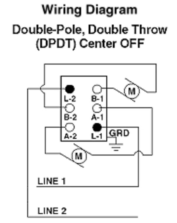 DPDT wiring center off control water heater using 30 amp switch
