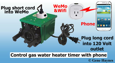 Control gas water heater with WeMo
