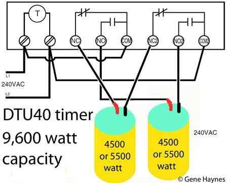 GM 40 timer controls two water heater
