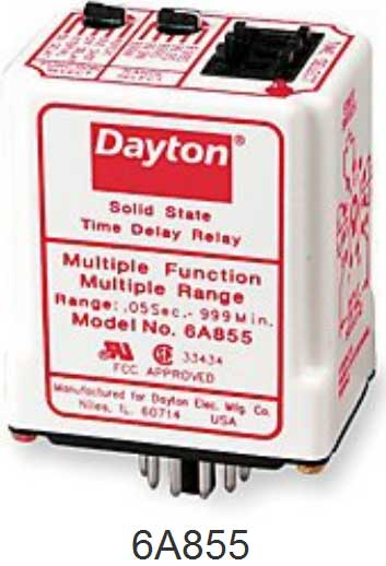Dayton 6A855 Time Delay Relay how to wire dayton off delay timer dayton 6a859 wiring diagram at readyjetset.co