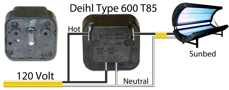 Deihl Type 600 T85 timer diehl rtv 900 wiring diagram hardware & accessories questions sunbed wiring diagrams at virtualis.co