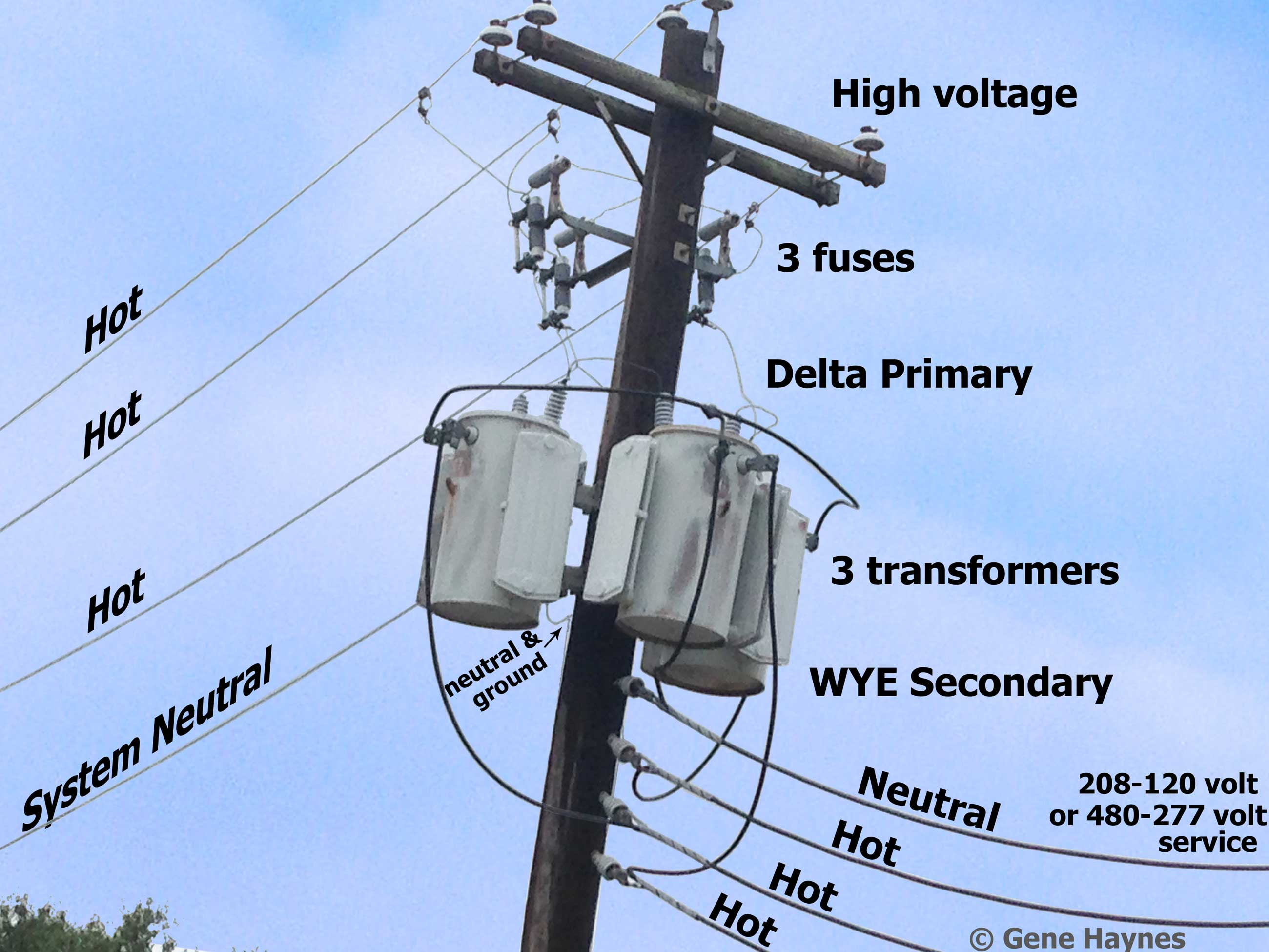 Names Of Parts On Electric Pole 120 240 Volt Wiring Diagram Delta Transformer Larger Image