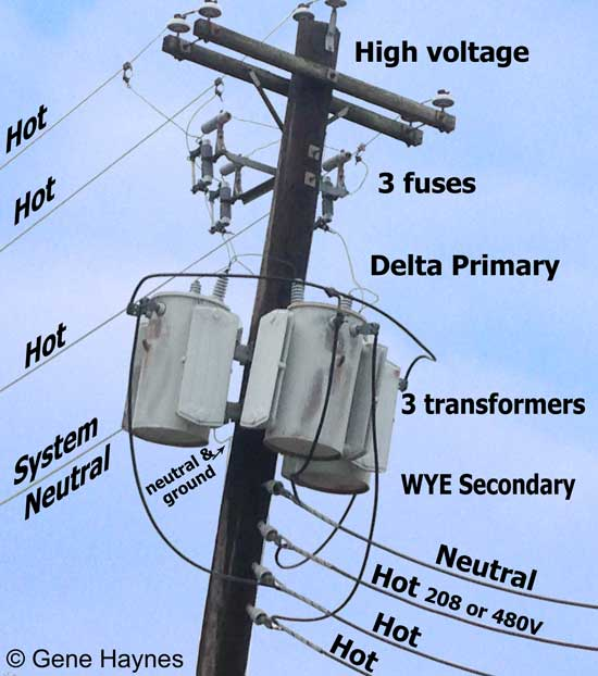 Electrical transformer hook up