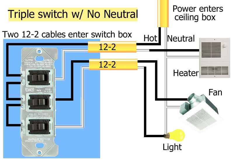 Bathroom Heater Fan Light Switch | Bath Heater Fan Switch Light Wiring Diagram |  | louisnagel