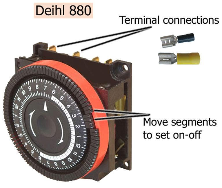 How to wire timers – Diehl Electric Motors Wiring Diagram
