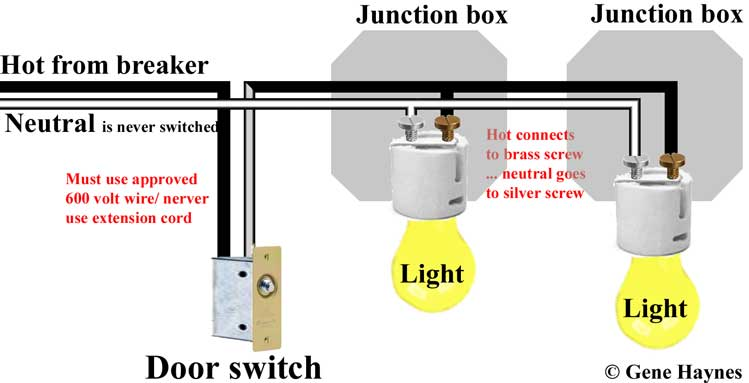 how to wire door switch