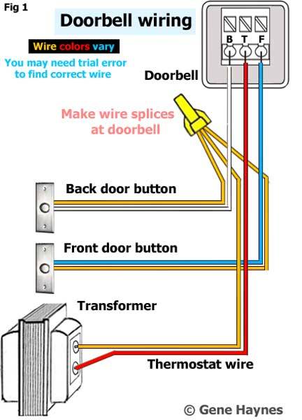 Identify wires for new doorbell on