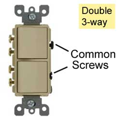 Wire double 3-way switch