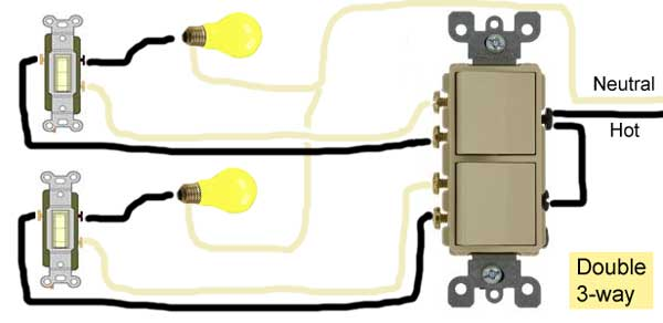 Double 3-way switch wiring