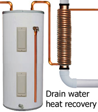 Drain water heat recovery