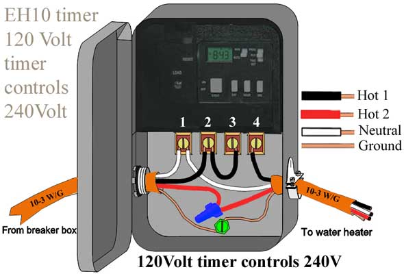 how to wire eh10 water heater timer/ eh40/ wh40/ wh21