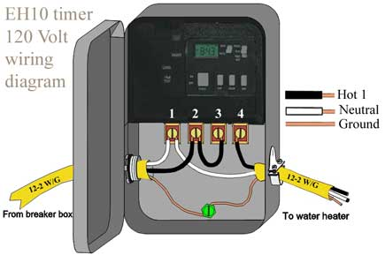 How to wire EH10 water heater timer/ EH40/ WH40/ WH21 Where Wiring Is Used on