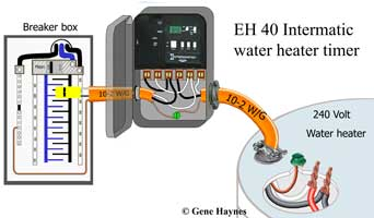 EH40 water heater timer