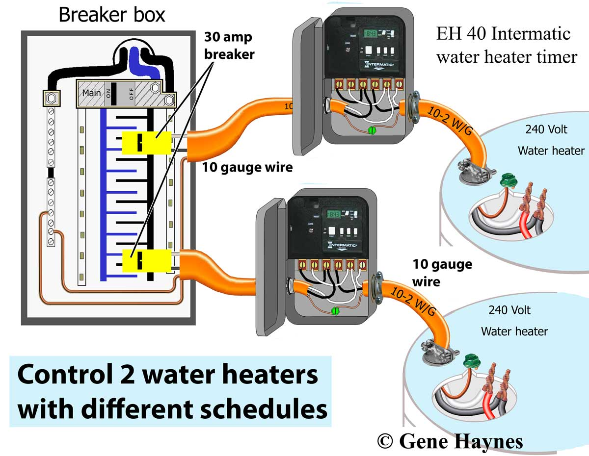 Water Heater Timer Schematic Wire Data Instant Wiring Diagram How To Install Two Heaters Rh Waterheatertimer Org Electric Hot Drawing