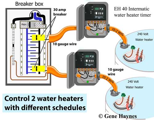 Control 2 water heaters