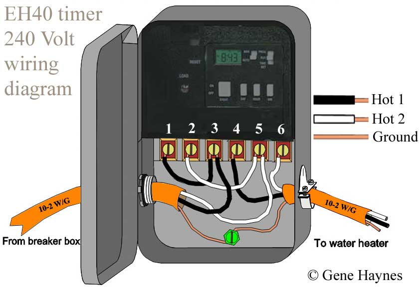 how to wire eh40 water heater timer eh10 wh40 wh21 220 volt electrical  wiring different arrangement
