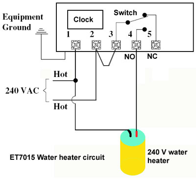 How to wire intermatic et series timer five terminal timer wired for 240 volts swarovskicordoba Images
