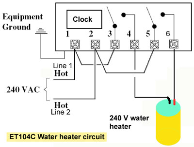 how to wire intermatic et series timerreplace with eh40 240 volt 30 amp, et104c water heater timer