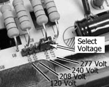Select voltage