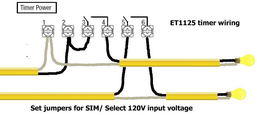 ET1125 timer wiring