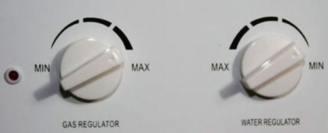 Ecotemp adjustment knobs