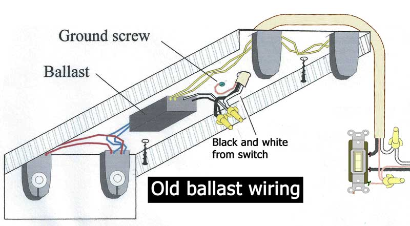 how to wire electronic ballast rh waterheatertimer org t12 ballast replace t12 ballast wiring diagram two fixtures