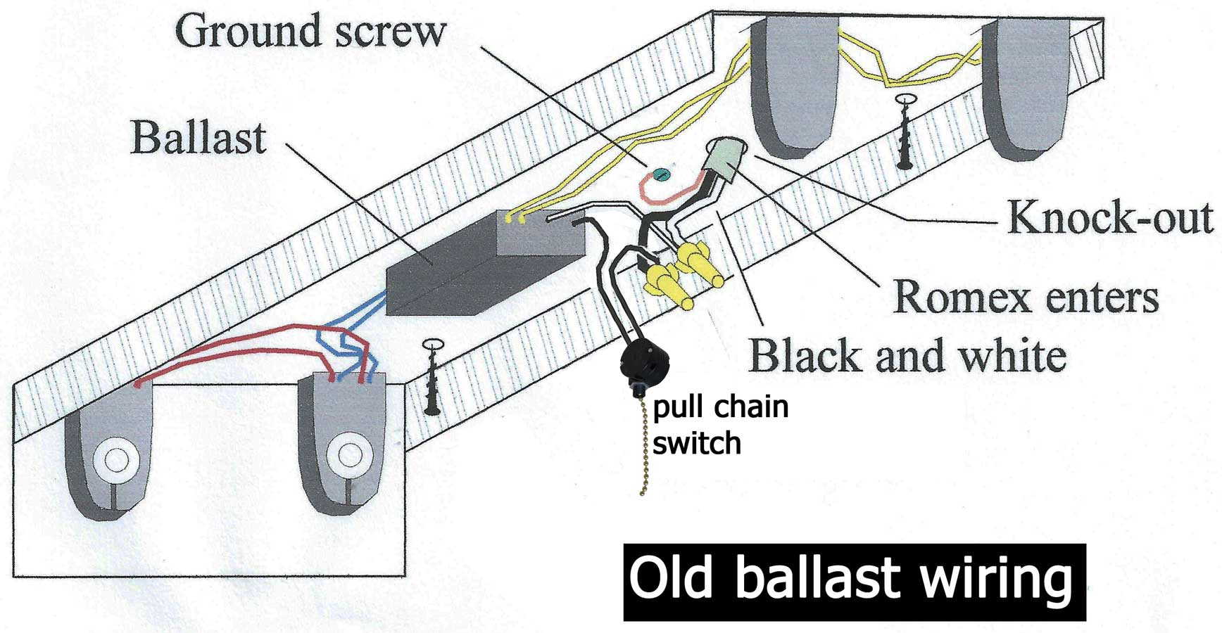 Ballast Wiring Tools Diy Enthusiasts Diagrams Advance T12 Diagram How To Wire Rh Waterheatertimer Org Emergency