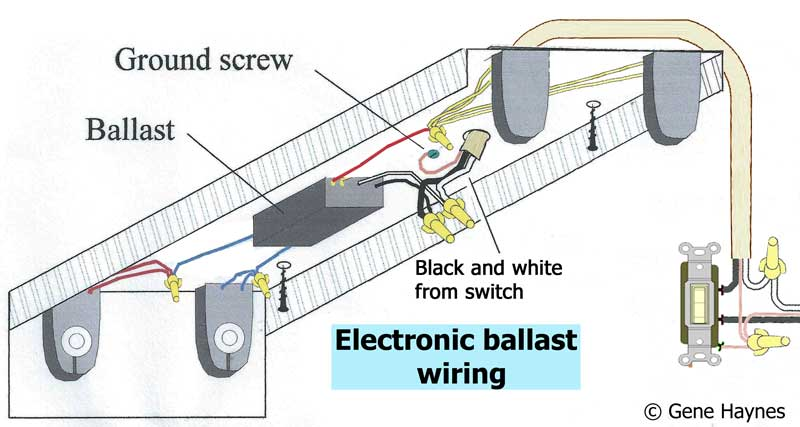 How to wire electronic ballast  Bulb Ballast Wiring Diagrams Troubleshooting on 3 bulb lamp wiring diagram, 3 tube ballast wiring, 3 bulb ballast installation, 3 lamp ballast wiring, 3 bulb fluorescent wiring, 2 bulb ballast wiring,
