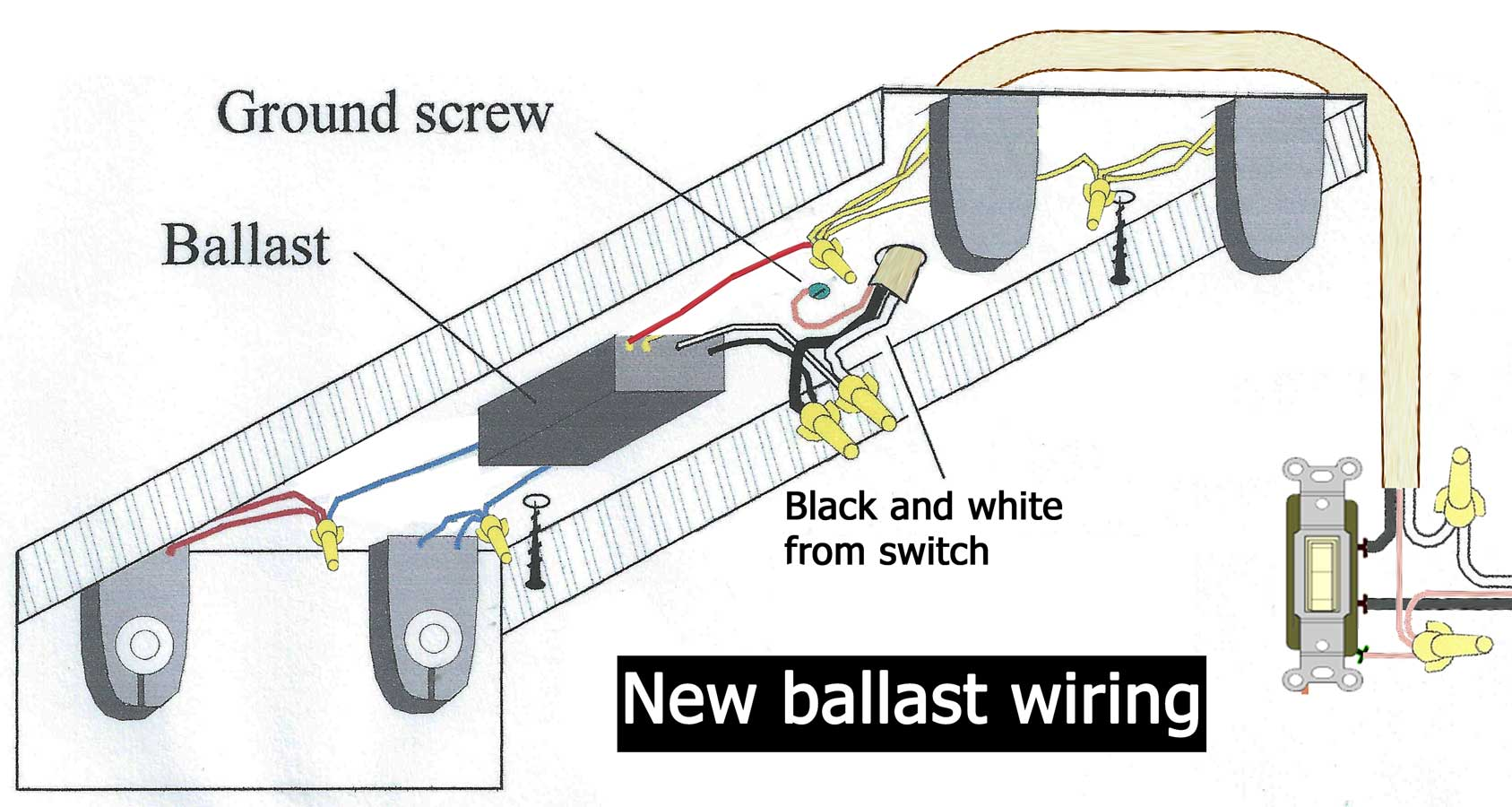 How To Wire Electronic Ballast T8 Wiring Diagram Parallel New Larger Image