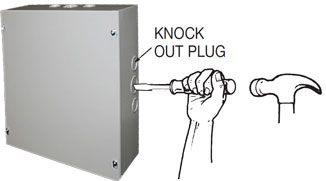 Electric box knock out