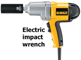 electric impact wrench for elements