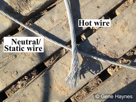 Neutral and static wire