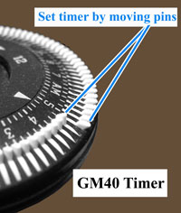 GM40 timer dial