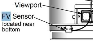 FV sensor location