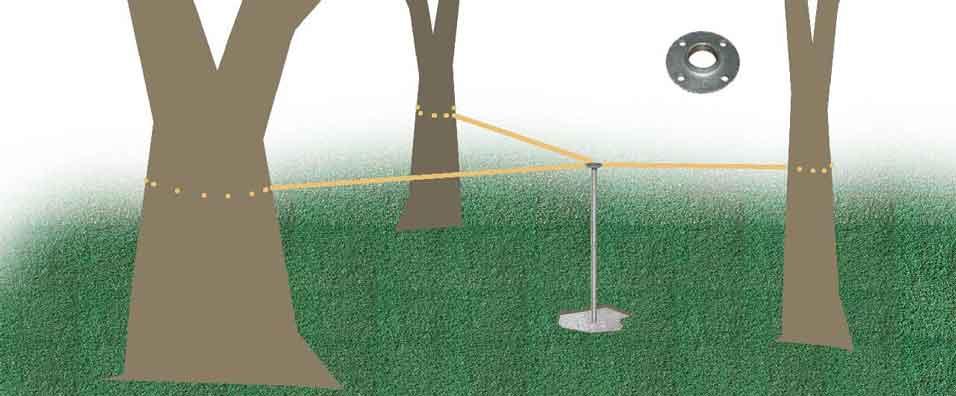 How to install bird feeder pole