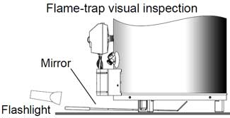 Flame trap inspection