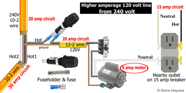 Convert 240 Volt to 120 Volt without neutral wire