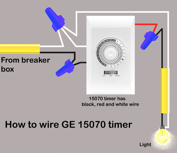 GE 15070 wiring 1 500 how to troubleshoot timers Porch Light Wiring Diagrams at crackthecode.co