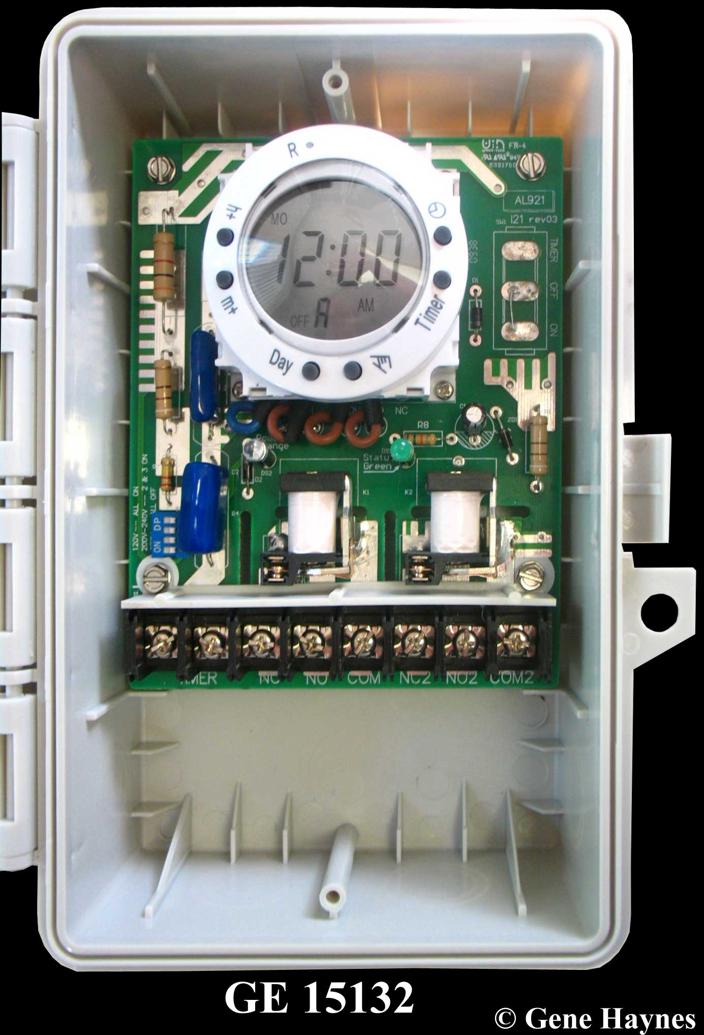 How To Wire Ge 15132 Timer Programmable Digital Circuit See Large Image Close Up