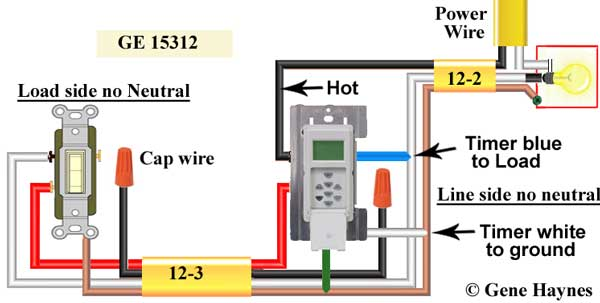 wiring diagram for switch timer the wiring diagram how to wire ge 15312 sunsmart timer for single pole 3 way wiring